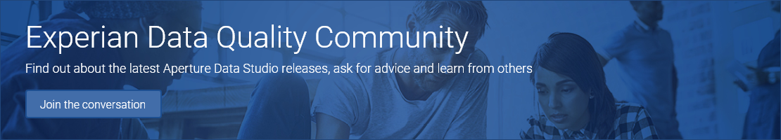 Experian Data Quality Community - Find out the latest Aperture Data Studio releases, ask and learn